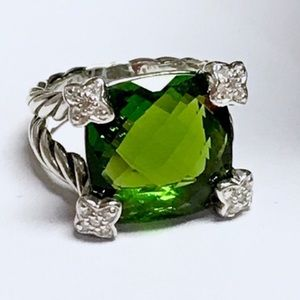 DAVID YURMAN Cushion On Point 15mm Prasiolite Ring